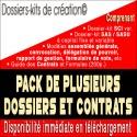 Pack dossier-kit SCI variable, SAS, SASU, Contrats et guide