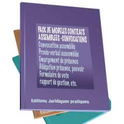 Pack contrats assemblées et réunions