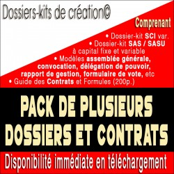 Package dossier-kit SCI variable, SAS, SASU, Contrats et guide