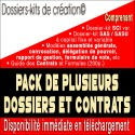 Pack dossier-kit SCI variable, SAS, SASU, Contrats et guide