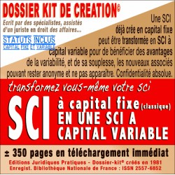 SCI - Transformation SCI fixe en SCI variable