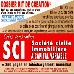 SCI à capital variable - achat-gestion etc.