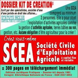SCEA société civile d'exploitation agricole