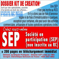 SEP societe en participation