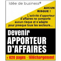 Apporteur d'affaires, idée de business, 620 pages
